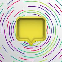 Realistisk 3D-talbubbla med färgglada cirklar, vektor illustration
