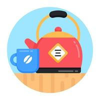 Teekanne und Kaffee vektor