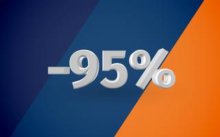 Abbildung des Verkaufs 3D mit Prozentsatz, Vektor