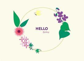 Blumen mit Hallo in den Frühling vektor