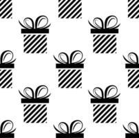 Geschenkbox nahtloses Muster vektor