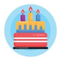 Kuchen und Feier vektor