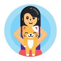 glückliche Katze und Tier vektor