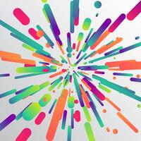 Bunter Zoomeffekt für Hintergrund, Vektorillustration
