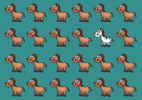 Tapete Pferd und Zebra Hintergrund vektor