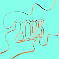 Abstrakt band bildar ett år, vektor illustration