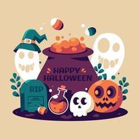 gruseliges Halloween-Fest vektor