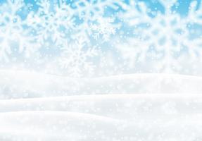 Schneelandschaft, Vektor