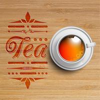 Realistisk kopp te, vektor