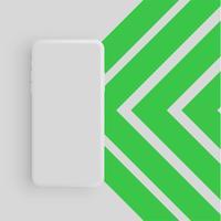 Realistisk matt färgstark telefon, vektor illustration
