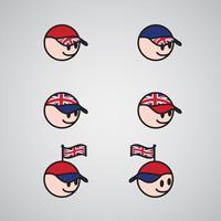 Engelska huvudet, vektor illustration