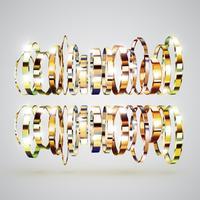 Hintergrund der goldenen Ringe, vektorabbildung