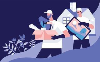 Haus bewegen Illustration Konzept Vektor