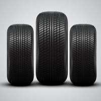 Realistische Reifen, Vektor-Illustration