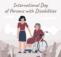 3. Dezember ist Internationaler Behindertentag vektor