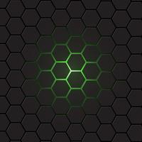 Dunkelgrauer Hexagonhintergrund, Vektor
