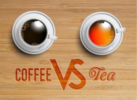 Eine realistische Tasse Tee / Kaffee, Vektor