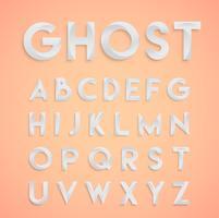 """""""Ghost"""" weiße Designschriftart, Vektor"""
