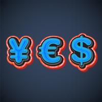 """Finanzielle Charaktere 3d, die """"ja"""", Vektor bilden"""