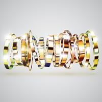 Guld ringar bakgrund, vektor illustration