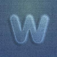 Tecken gjord av denim, från en typsnitt, vektor