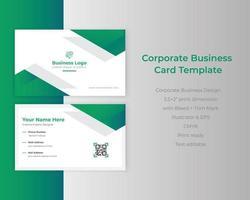 Farbverlauf kreativer Corporate Business Identity ID-Kartenvektor vektor