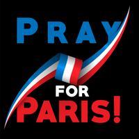 """""""Betet für Paris"""", Vektor-Illsutration"""
