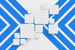 Ren mall för reklam med blå pilar, vektor illustration