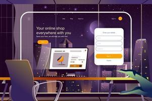 Online-Shop-Konzept-Vektor-Illustration für Landing Page vektor
