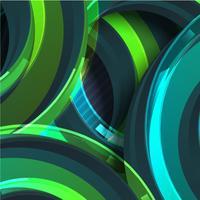 Bunter grüner Kreiszusammenfassungshintergrund, Vektorillustration