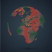 Bunte Karte der Welt, Vektorillustration