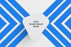 Säubern Sie Schablone für die Werbung mit blauen Pfeilen, Vektorillustration