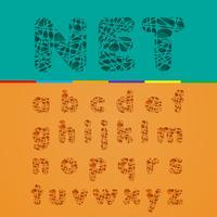 Cutout fontset, vektor