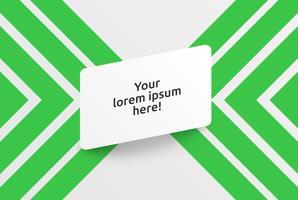 Ren mall för reklam med gröna pilar, vektor illustration