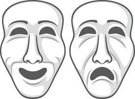 zwei Theatermasken vektor