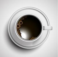 Ein realistischer Tasse Kaffee, Vektor
