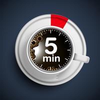 Realistisk kaffetid illustration, vektor