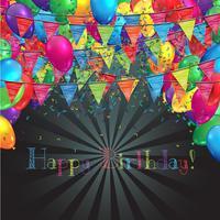 Illustration för födelsedag eller någon fest, vektor