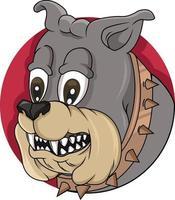 Kopf Bulldogge Logo Vektor