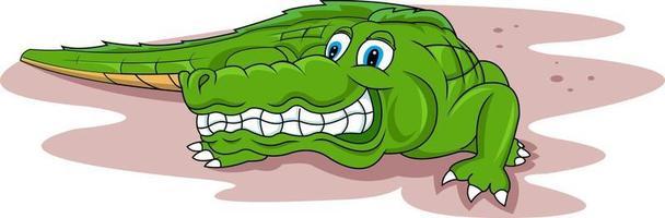 lustiger Cartoon-Krokodil-Vektor vektor