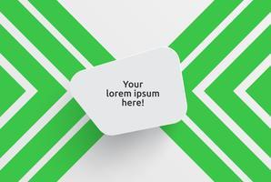 Säubern Sie Schablone für die Werbung mit grünen Pfeilen, Vektorillustration