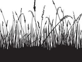 Gras Silhouette Hintergrund vektor