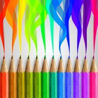 Realistische hölzerne bunte Bleistifte, Vektor