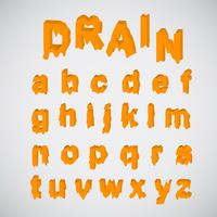 Schmelzender orange Zeichensatz, Vektor