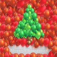 Julgran gjord av ballonger, vektor
