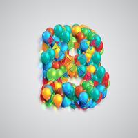 Bunter Guss gemacht durch Ballons, Vektor