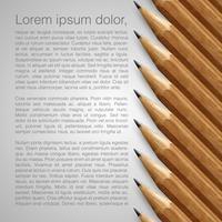 Schablone mit realistischen Bleistiften, vektorabbildung vektor