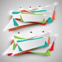 Bunte Anschlagtafel für die Werbung, Vektor