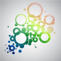 Abstrakt färgrik cirklar vektor