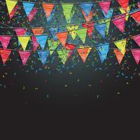 Festlicher Hintergrund mit Flaggen, Vektor